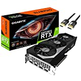 Giga byte GeForce RTX 3070 OC Edition Graphics Card 8GB 256-bit GDDR6 PCIe 4.0 Protection Metal Back Plate 3X WINDFORCE Fans 2x HDMI 2.1 2 x DisplayPort 1.4a w/ Mytrix HDMI 2.1 Cable(4k@120Hz/8K@60Hz)