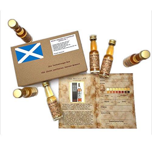 Whisky Tasting Box Schottland (6 x 20ml. Single Malt Whisky)