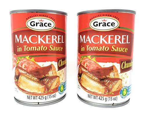 Grace Mackerel in Tomato Sauce Chunky 15oz, 2 Pack