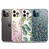 iPhone 12 用 ケース、iPhone12 pro用4パッククリアケース、iPhone12/12pro用の新年の可愛いケース、透明で柔らかいTPUケース、滑り止め、軽·薄〔6.1インチ〕〔タイプD〕