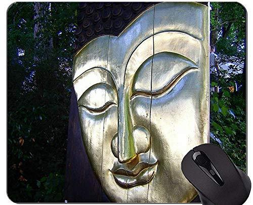 Mausunterlage Anti-Rutsch, Maske Buddha Statue Personalisierte Rechteck Gaming Mouse Pads