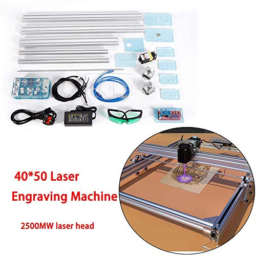 HYLH Schnitzmaschine DIY Kit 2500 mW USB Graveur Carver CNC Laser Drucker 40 * 50 cm