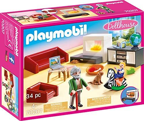 Playmobil Dollhouse 70207 Huiskamer Met Open Haard