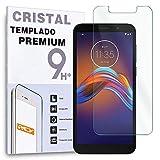 REY Protector de Pantalla para Motorola Moto E6 Play, Cristal Vidrio Templado Premium