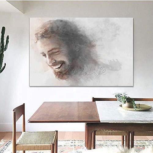 LLXHGJesus Christus Auf Leinwand Poster Und Druck Wandkunst Bilder Für Wohnzimmer Wohnkultur Druck Malerei Decor-50X70Cm Kein Rahmen