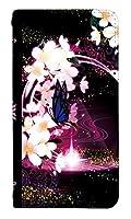 [IPHONEXS] ベルトなし スマホケース 手帳型 ケース アイフォンテンエス 8259-E. 蝶と桜 かわいい 可愛い 人気 柄 ケータイケース ゴシック