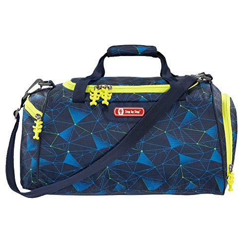 """Step by Step Sporttasche """"Star Ship"""", blau, mit Nasswäschefach, Abnehmbarer Tragegurt, Verstellbarer Schultergurt, für Jungen 1. Klasse, 13L"""