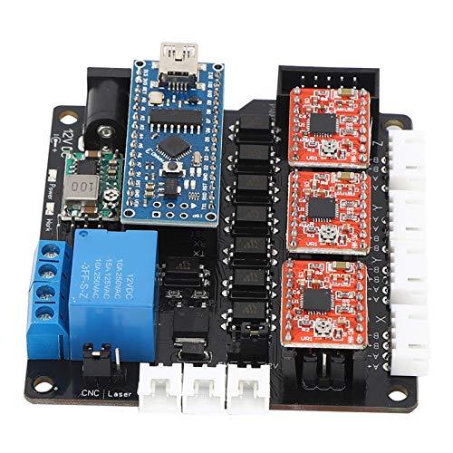 YUNJINGCHENMAN 1 Configurar el Kit de Placa Base láser Módulo de Controlador de 3 Ejes Accesorio eléctrico para máquina de Grabado CNC DC 12V