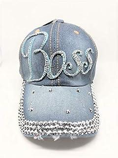 Tipsy Chics Capsmith Women's Denim with Boss Rhinestone Baseball Hat