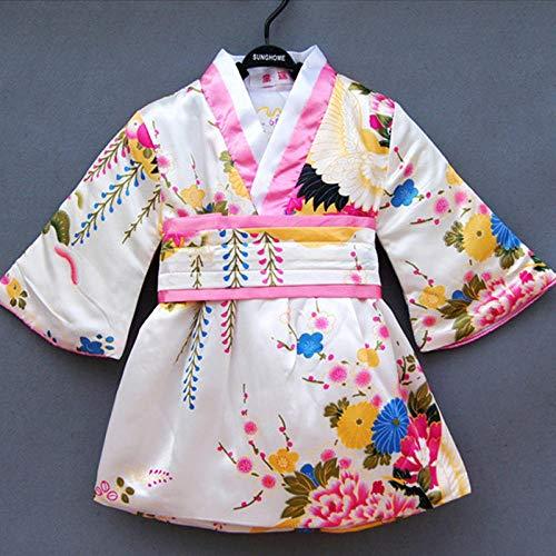 Trajes De Baño Bebé Recién Nacido Estilo Japonés del Traje del Partido Kimono Tradicional Vestido De Los Niños del Vestido De Cumpleaños Yukata Haori Cosplay Anime Hyococ