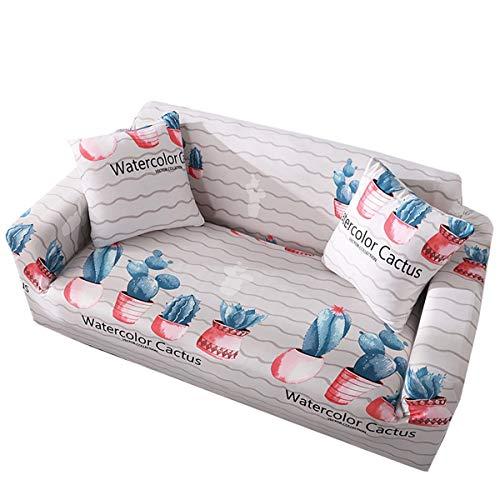 Yunchengyunxiangtong Stretch Couch Cover Universal Anti-Rutsch-Four Seasons Kombination Sofakissen Handtuch Deckel voll Abdeckung Elastic All-Inclusive-Universal-Sofa (Size : Quadruple)