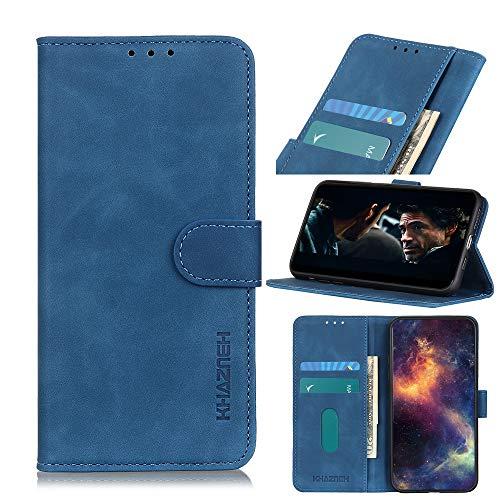 Snow Color Funda Cartera Galaxy M30S,Funda Libro de Cuero de Suave PU Premium Carcasa Soporte Plegable Ranuras para Tarjetas y Billetera, Cierre Magnético para Samsung Galaxy M30S - COKZN070073 Azul