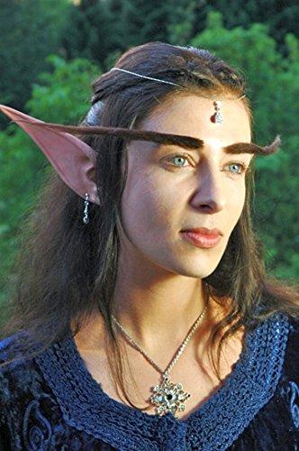 Amakando Oreillettes d'elfe Conte de fées en Latex Longues Oreilles de fée Pointues Fausses Oreilles