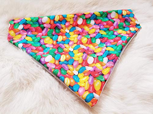 Easter Jelly Beans Over the Collar Dog Bandana Large