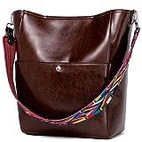 BROMEN Damen Handtasche Leder Shopper Tasche Hobo Bag Groß Schultertasche Designer Umhängetasche Schule Einkauf Reise