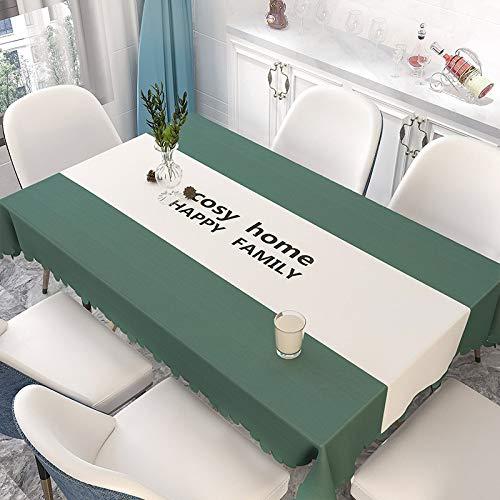 XTUK Paño de Mantel para el hogar Mantel Limpio Negro Blanco Cuadros Cubiertas de Mesa de plástico Prueba Agua Tela de PVC Limpiar Cocina Comedor Mesa Banquete Boda Comedor 137 * 160cm