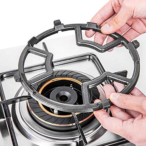 Huaesem Soporte para cocina de gas de hierro fundido, accesorio reductor para ollas de espresso, moka y hornillos de camping