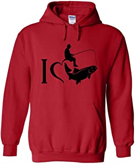 I Love Fishing Black Logo Fishing Hoodie