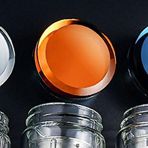 iggiqy996q- Coupe à Haute teneur Coupe de ménage Hommes Verre résistant à la Chaleur Tasse à thé Double Portable Cristal Tasse tasse à café (Couleur : Orange)