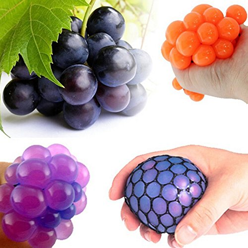 Zhuotop Kinder Quetschball Squeezeball Stressball zum Abbau des Stresses, Traubenform 5cm