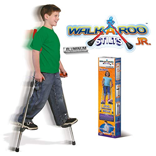 Geospace Original Walkaroo JR. Lightweight Stilts with Ergonomic Design by Air Kicks, 110 Lbs. Max. (Aluminum)