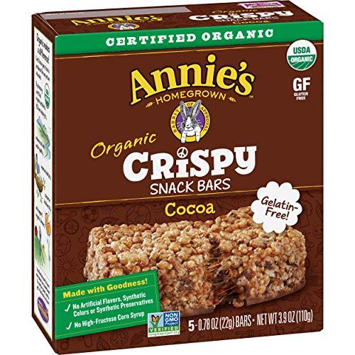 Annie's Organic Cocoa Crispy Snack Bars, Gluten Free , 3.9 oz, 5 ct