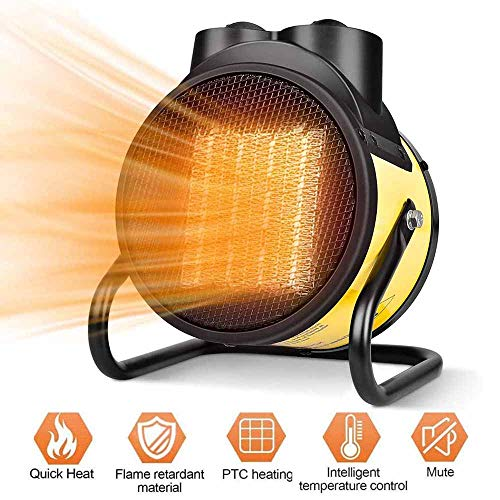 Read About TQMB-A Space Heater - Electric Heater, 1500W PTC Heater Fan, 3 Modes, 3s Fast Heating, Th...
