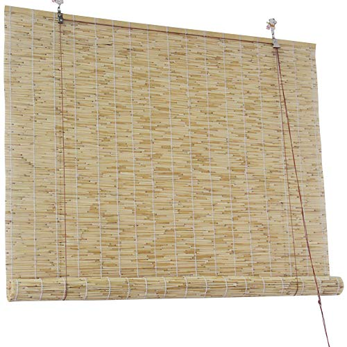 Heben Von Schilf Sonnenschirme Natürliche Bambus Rollläden Vintage Dekoration Stroh Handgewebte Vorhang Rollladen Für Innen- Und Außen Benutzerdefinierte Jalousien