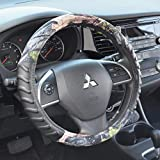 BDK Camouflage Steering Wheel Cover – Synthetic Camo Leather Cushion Grip Steering Cover Universal Size (14.5 15 15.5 in) (Jungle Green Camo)