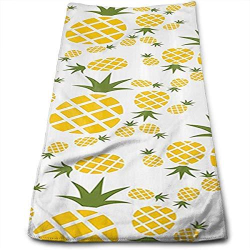 angwenkuanku Handtücher Geschirrtuch Pineapple Piktogramm Dekorative weiche Baumwolle großes Handtuch Mehrzweck-Badezimmertücher für Hand, Gesicht, Fitnessstudio und Spa