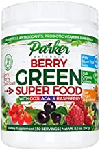 Berry Green Superfood Powder with Organic Greens & Organic Fruits, Enzymes, Probiotics, Antioxidants, Vitamins, Minerals -...