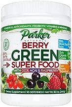 Berry Green Superfood Powder with Organic Greens & Organic Fruits, Enzymes, Probiotics, Antioxidants, Vitamins, Minerals - Alkalize & Detox - Non GMO, Vegan & Gluten Free - 240 Grams.