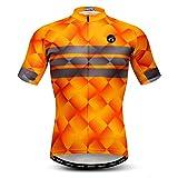 weimostar Maillot de ciclismo para hombre, camiseta de ciclismo de verano para hombre, transpirable, antisudor, secado rápido, tallas S-3XL