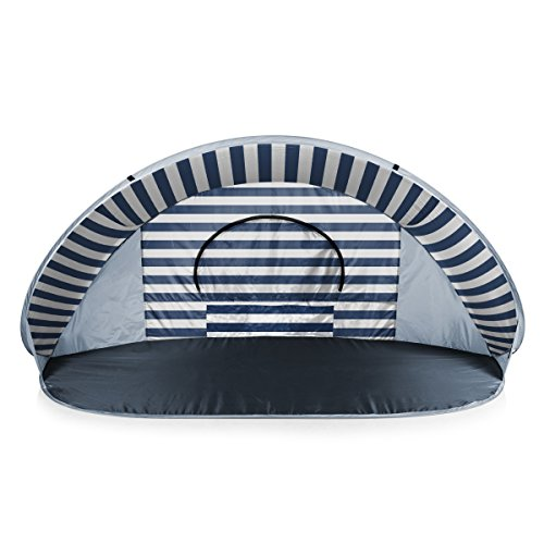 "ONIVA - a Picnic Time Brand Manta Portable Pop-Up Sun/Wind Shelter, Navy/White Stripes, 86.6"" x 47.25"" x 39.37"""
