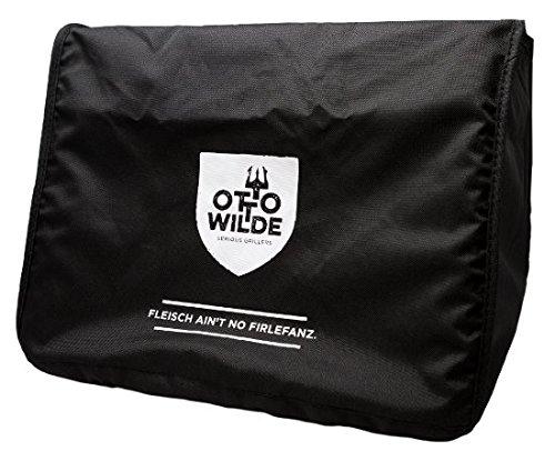 Original Otto Wilde Grillers Abdeckhaube   Schwarze Abdeckhaube für den O.F.B. Oberhitzegrill   Aus robustem, wasserabweisendem Oxford-Material (Baumwolle) gefertigt