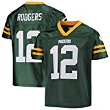 Aaron Rodgers Green Bay Packers #12 Green Youth Home Player Jersey (Large 14/16)