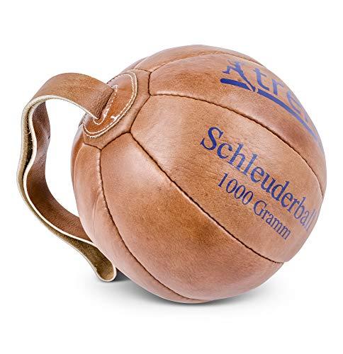 trenas Original Schleuderball aus Leder - 1,00 KG für das Deutsche Sportabzeichen