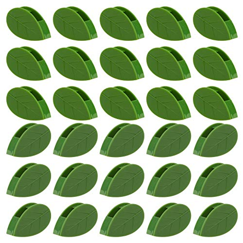 SAVITA 30 Clips De Fijación De Pared para Plantas Trepadorasn Clip Autoadhesivo para Fijación De Pared De Plantas, Soporte Invisible para Enredaderas En Forma De Hoja