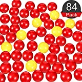 Gejoy 84 Piezas Bolas de Reemplazo de Juego 4 Conjuntos de Canicas de Reemplazo de Juego Compatibles con Hipopótamos Hambrientos,76 Bolas Rojas y 8 Bolas Amarillas