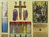 Juego de 7 en un solo agua, suelo, aceite, cruz, incienso, vela e icono de la Tierra Santa