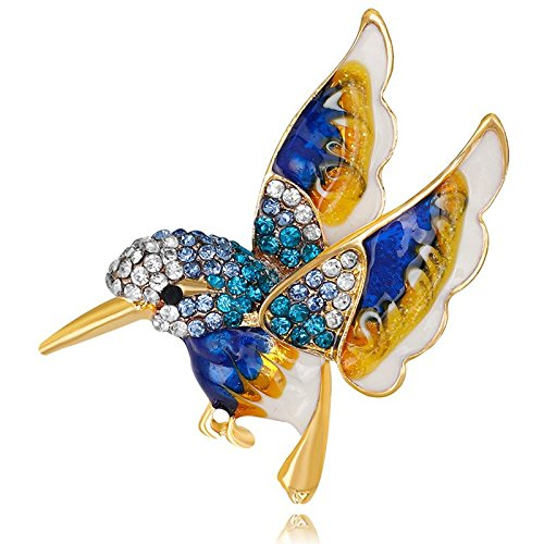 TOPSALE Hermoso Pajaro Colorido Broche Animal Broches para la Boda Decoracion Unisexo Salvaje Moda Animal (Azul)