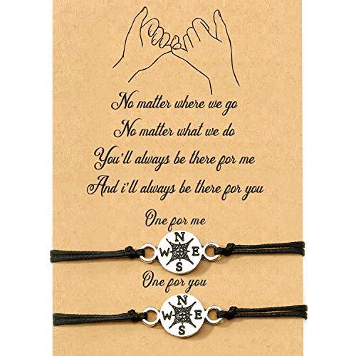 2 pulseras de amistad a juego para regalo a mejor amigo o a tu pareja