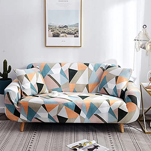 PPOS Cross Pattern Elastic Sofa Cover Stretch All-Inclusive Sofa Covers for Living Room Couch Cover Loveseat Sofa Slipcovers D11 Loveseat 145-185cm-1pc