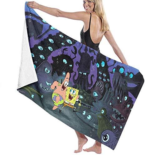 Spongebob Handtücher, Mikrofaser, weich, saugfähig, Mehrzweck, für Badezimmer, Hotel, Fitnessstudio und Spa, große Größe