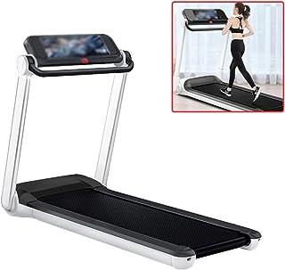 Folding Treadmill Electric Treadmill Family Silent Treadmill Office Walking Treadmill, Tablet Book Shelf, Bearing About 13...