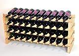 Modular Wine Rack Beechwood 40-120 Bottle Capacity 10...