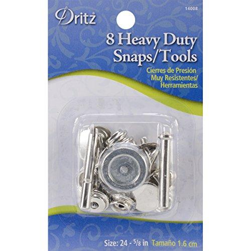 Dritz Heavy Duty Snap Kit 5/8' 8/Pkg-Nickel