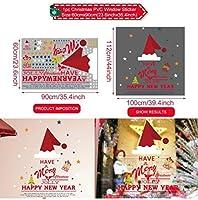 HF-ZEN ウォールステッカー おしゃれ ホーム飾り クリスマスサンタクロース雪ウォールステッカー窓メリークリスマスの装飾家のクリスマスデコレーション新年のステッカー、ステッカー15
