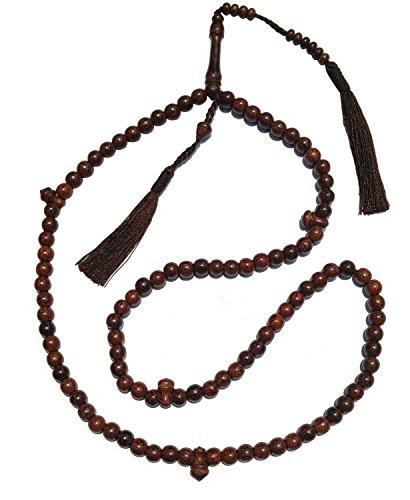 Exotic Beads 8mm Hermoso Color marrón Oscuro denso Tamarind Madera Tijani tariqah Tasbih Cuentas de oración W/borlas de a Juego