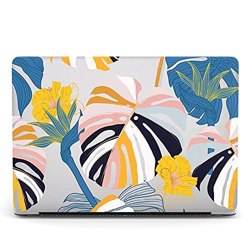 Custodia Compatibile con MacBook PRO 15 Pollici 2019 2018 2017 2016 Modello A1990/A1707,Case Cover in Plastica Dura Rigida Copertina Compatibile con MacBook PRO 15 Touch Bar - Foglia 1